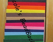 1 DAY SALE Nicole's BeadBacking 9x6 full set 16 colors Bead Foundation Textiles Fabric Material