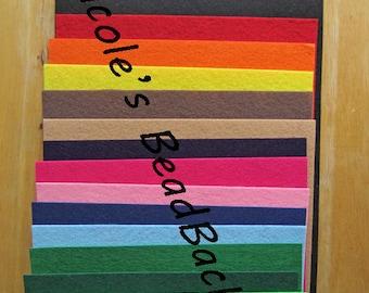 Nicole's BeadBacking 9x6 full set 16 colors Bead Foundation Textiles Fabric Material