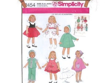 Retro Doll Clothes Pattern | Simplicity Reproduction of Vintage Pattern NIP