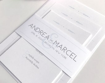 Modern & Minimalist Wedding Invitation