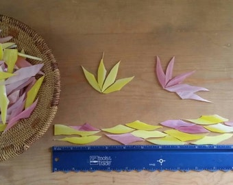 Pink and Yellow Glass Shards for Mosaic Art Designing