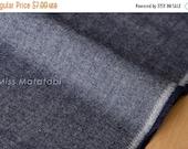 Japanese Fabric Yarn Dyed Brushed Twill - navy blue - 50cm