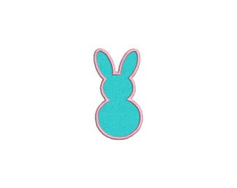 Bunny Rabbit Applique Machine Embroidery File design 4x4 hoop bunny applique