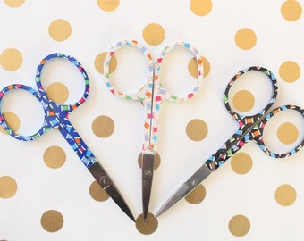 Thread Embroidery Scissors Cross Stitch Tool Teal Purple Green Embroidery DIY Supplies Sharp Scissors Short Scissors Sewing Scissors