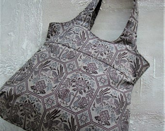 Vintage Obi Tote - flower and bird