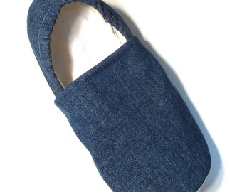 READY TO SHIP Adult Denim Slippers