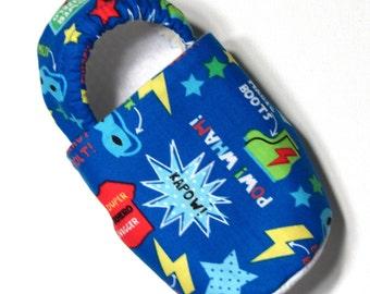 Super Hero Slippers Child M