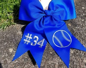 Adorable personalized grosgrain ribbon large hair bow
