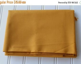 BIG SALE - Vintage Fabric - Cotton - Solid Gold - Yardage