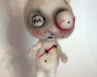 Zombie bunny rabbit  Ooak  art doll
