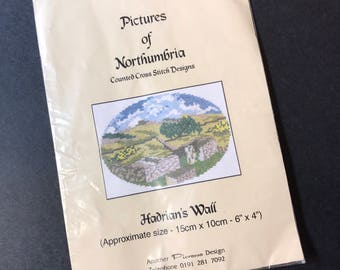 Counted Cross Stitch Kit  Pictures of Northumbria Hadrian's Wall