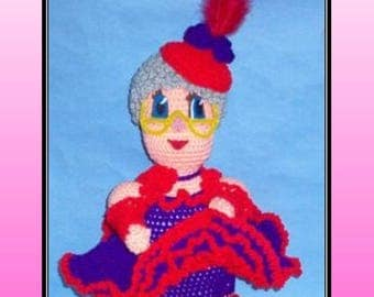 Red Hat Baton Rouge Doll Crochet Pattern, crochet red hat, crochet doll, red hat doll