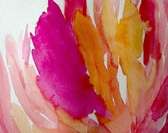 Original watercolor painting Petals