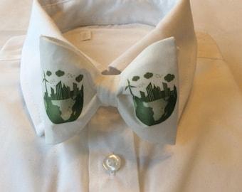 Eco Green World Pre-tied Bow Tie,Bow tie,Bow Tie,Grad,Prom,Wedding,Urban Planning,Planner,
