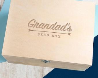 Personalised Gardeners Seed Box