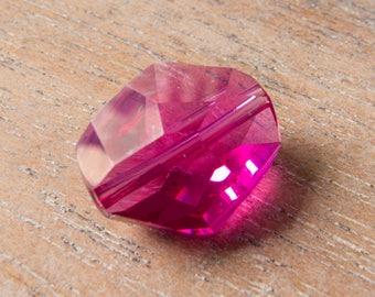 Contemporary Swarovski Article 5523 Cosmic Bead - 16mm - Fuchsia Pink