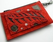 Little Suede Applique Coin Pouch/Wallet with Keyclip