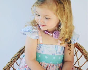 Baby Mermaid Outfit - Baby Dress -  Baby Mermaid Dress - Baby Beach Dress - Toddler Beach Outfit -Toddler Mermaid Outfit -Girls Summer Dress