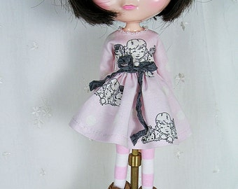 Blythe Doll Dress,  Blythe Dress. Long Sleeves, Paris Bebes