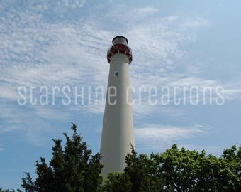 Lighthouse Photography, Cape May Photography, Blue Skies, 8x10, 5x7