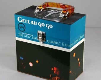 Vinyl 45 Record Case 7-inch - Handmade from Recycled Record - Getz au Go Go - Stan Getz Astrud Gilberto