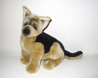 German Shepherd Dog Plush - Stuffed Animal Dog Toy - Lou Ranking Friends Label - Vintage Applause
