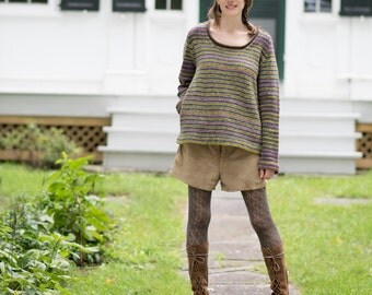Seneca Falls Sweater kit: includes pattern download code & yarn needed to complete (6-11 skeins Rockwell US grown wool))