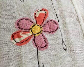 Rain cloud quilty burp cloth handmade