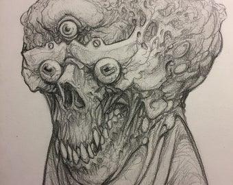 Portrait no. 546 original pencil drawing