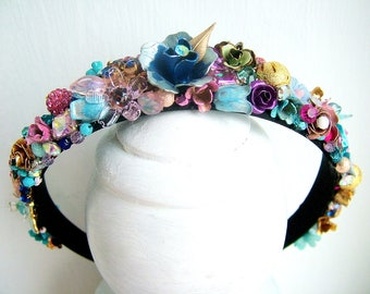 Embellished Headband - OOAK - Ready to ship xx