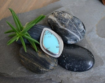 SALE: WAS 125- Turquoise Seed Pod Cocktail Ring