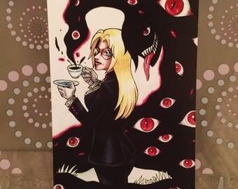 """Hellsing Integra Alucard - Storm in a Tea Cup - 6x4"""" Matte Art Print"""