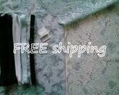 FREE Ship DIY Fabric + Notions Mint & Black Birds for 1 BRA + Panty by Merckwaerdigh