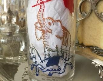 1965 GOP Sandman Campaign Glass