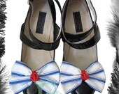 Sample Sale - Nautical Bow Shoe Clips