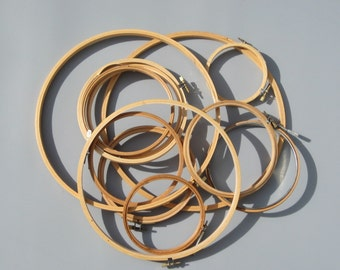Wood Embroidery Hoops Screw Tighteners Craft Supply 12 Count Many Sizes