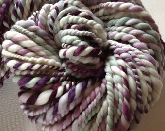Handspun merino super bulky yarn 70yds  3-4wpi Winter Sparrow 6.7ozs