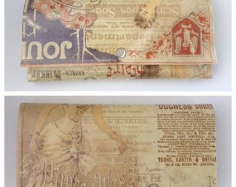 Southern Belle Vintage Inspired Trifold Paper Wallet Vegan Paris