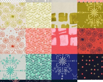Complete Paper Bandana by Alexia Abegg - Spring 2015 Cotton and Steel Fabric  - Charm Square Pack of 19
