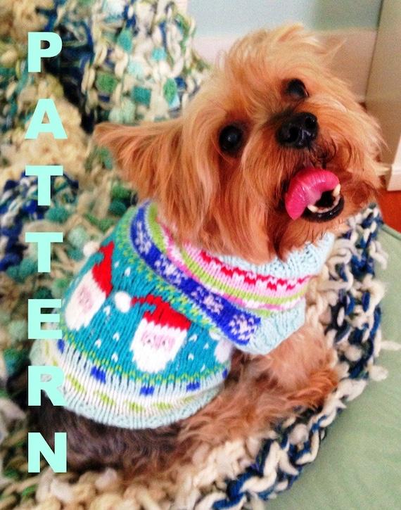 Santa Baby Fair Isle Dog Sweater Knitting Pattern from ...