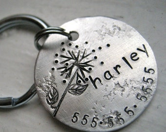 Our dog tags make a unique personalized gift. Each pet id tag is crafted in our Bozeman, Montana studio by dog lovers. Harley Pet Tag