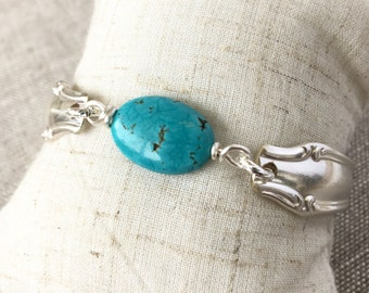 Turquoise spoon handle bracelet