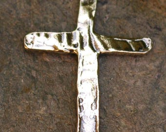Slender Sideways Cross Link for Bracelet or Terrific Earrings in Sterling Silver