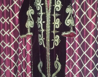 Embroidered Middle Eastern Jacket in Velveteen