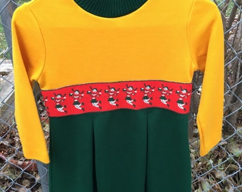 1960s Cheerleader Dress Girls 8/10