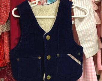 70s Corduroy Vest 3/4T