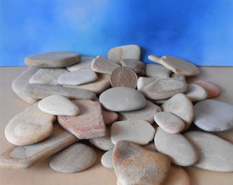 120-240 Rocks~Pebble Art~Rocks~Pebbles~Flat Rate Shipping~Flat Sand Stones~Bulk Stones~Decorative Rock~Stone