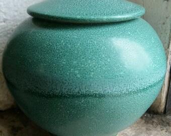 Pet Urn, Dog Urn, Cat Urn, Memorial Lidded Vessel,  Cremains Container