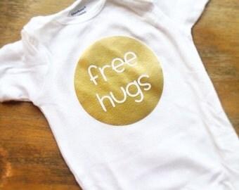 Free Hugs baby shirt