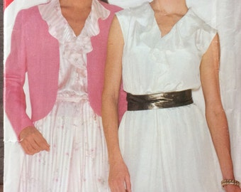 Vintage Sewing Pattern Butterick 3888 Misses' Jacket and Dress Size 14-18 Bust 36-40 inches  Uncut Complete